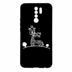 Чехол для Xiaomi Redmi 9 жираф