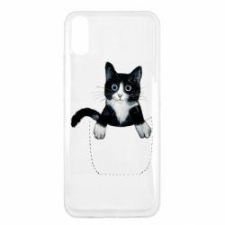 Чехол для Xiaomi Redmi 9a Art cat in your pocket