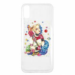 Чехол для Xiaomi Redmi 9a Bright Harley Quinn Vector