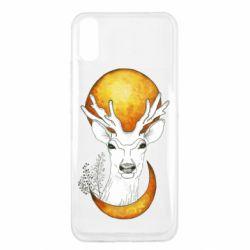 Чехол для Xiaomi Redmi 9a Deer and moon