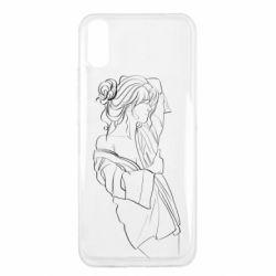 Чехол для Xiaomi Redmi 9a Girl after a shower