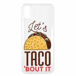 Чехол для Xiaomi Redmi 9a Let's taco bout it