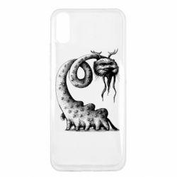 Чехол для Xiaomi Redmi 9a Long-necked Mustachioed Monster