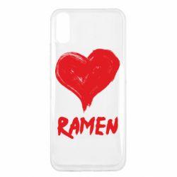 Чехол для Xiaomi Redmi 9a Love ramen