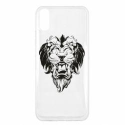 Чехол для Xiaomi Redmi 9a Muzzle of a lion