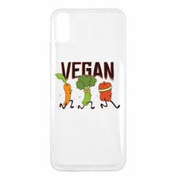 Чехол для Xiaomi Redmi 9a Веган овощи