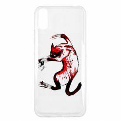 Чехол для Xiaomi Redmi 9a Watercolor Aggressive Cat