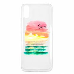Чехол для Xiaomi Redmi 9a Watercolor pattern with sea