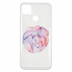 Чехол для Xiaomi Redmi 9c Abstract rose from the lines