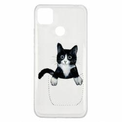 Чехол для Xiaomi Redmi 9c Art cat in your pocket
