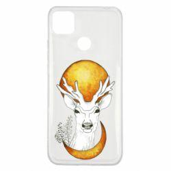 Чехол для Xiaomi Redmi 9c Deer and moon