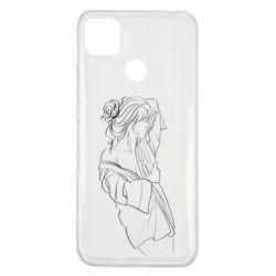 Чехол для Xiaomi Redmi 9c Girl after a shower