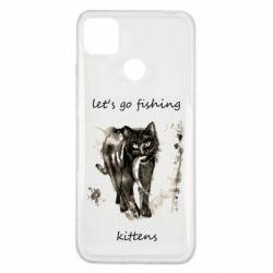 Чехол для Xiaomi Redmi 9c Let's go fishing  kittens