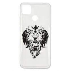 Чехол для Xiaomi Redmi 9c Muzzle of a lion