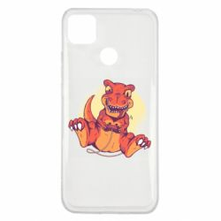 Чехол для Xiaomi Redmi 9c Playing dinosaur