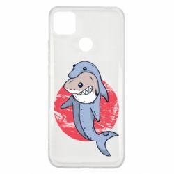 Чехол для Xiaomi Redmi 9c Shark or dolphin