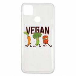 Чехол для Xiaomi Redmi 9c Веган овощи