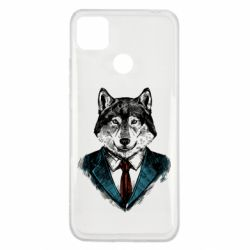 Чехол для Xiaomi Redmi 9c Wolf in costume