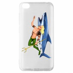Чехол для Xiaomi Redmi Go Aquaman with a shark