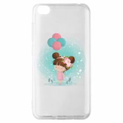 Чехол для Xiaomi Redmi Go Girl with balloons