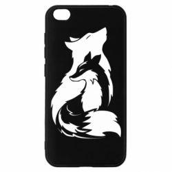 Чехол для Xiaomi Redmi Go Wolf And Fox