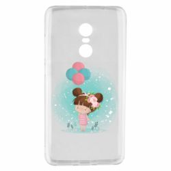 Чехол для Xiaomi Redmi Note 4 Girl with balloons