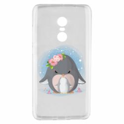 Чехол для Xiaomi Redmi Note 4 Two cute penguins
