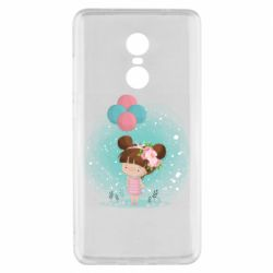 Чехол для Xiaomi Redmi Note 4x Girl with balloons