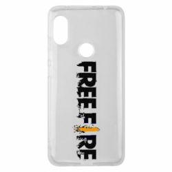 Чехол для Xiaomi Redmi Note 6 Pro Free Fire spray