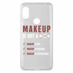 Чехол для Xiaomi Redmi Note 6 Pro Make Up Is Not A Mask