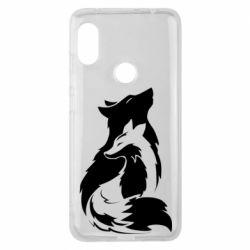 Чехол для Xiaomi Redmi Note 6 Pro Wolf And Fox