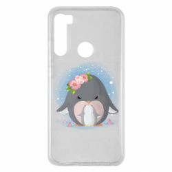 Чехол для Xiaomi Redmi Note 8 Two cute penguins
