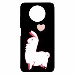 Чехол для Xiaomi Redmi Note 9 5G/Redmi Note 9T Alpaca with a heart