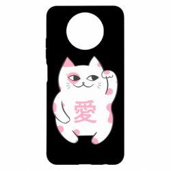 Чехол для Xiaomi Redmi Note 9 5G/Redmi Note 9T Cat and hieroglyphs