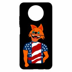 Чехол для Xiaomi Redmi Note 9 5G/Redmi Note 9T Cat in American Flag T-shirt