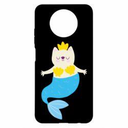 Чехол для Xiaomi Redmi Note 9 5G/Redmi Note 9T Cat-mermaid
