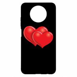 Чехол для Xiaomi Redmi Note 9 5G/Redmi Note 9T Два сердца