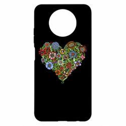 Чохол для Xiaomi Redmi Note 9 5G/Redmi Note 9T Flower heart