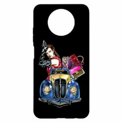 Чехол для Xiaomi Redmi Note 9 5G/Redmi Note 9T Girl with a retro car