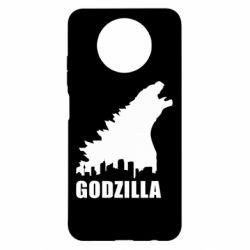 Чехол для Xiaomi Redmi Note 9 5G/Redmi Note 9T Godzilla and city