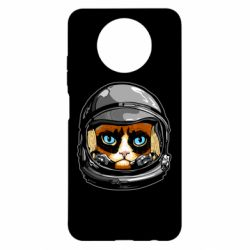 Чехол для Xiaomi Redmi Note 9 5G/Redmi Note 9T Grumpy Cat Astronaut