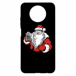 Чехол для Xiaomi Redmi Note 9 5G/Redmi Note 9T Santa Claus with beer