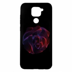 Чехол для Xiaomi Redmi Note 9/Redmi 10X Abstract rose from the lines