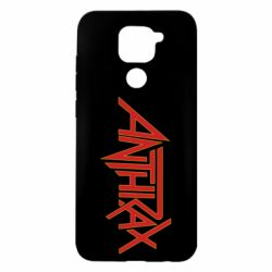 Чехол для Xiaomi Redmi Note 9/Redmi 10X Anthrax red logo