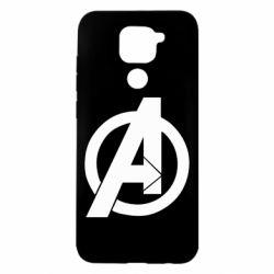 Чехол для Xiaomi Redmi Note 9/Redmi 10X Avengers logo