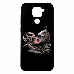 Чехол для Xiaomi Redmi Note 9/Redmi 10X Batman and Catwoman Kiss