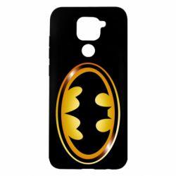 Чохол для Xiaomi Redmi Note 9/Redmi 10X Batman logo Gold