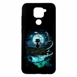 Чехол для Xiaomi Redmi Note 9/Redmi 10X Black cat art