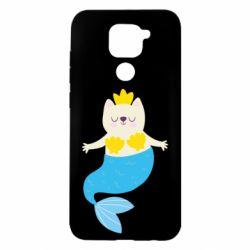 Чехол для Xiaomi Redmi Note 9/Redmi 10X Cat-mermaid