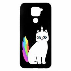 Чехол для Xiaomi Redmi Note 9/Redmi 10X Cat Unicorn